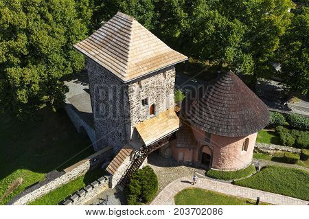 KREMNICA, SLOVAKIA - AUGUST 18, 2017: Town castle in Kremnica in central Slovakia on August 18, 2017.