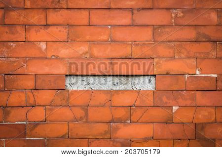 Textured background: old brick wall pattern Used for text input
