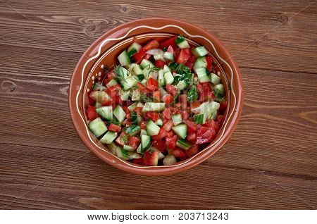 Arab salad , close up meal , close up  traditional meal