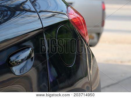 Black fuel tank cover, car refueling cap