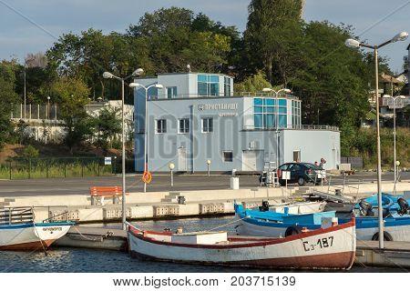 CHERNOMORETS, BULGARIA - AUGUST 16, 2017:  Amazing Seascape of port of Chernomorets, Burgas region, Bulgaria