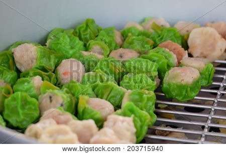 Dim sum green, Traditional Chinese dumplings called