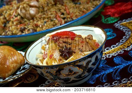 Food Set  Central Asian Cuisine