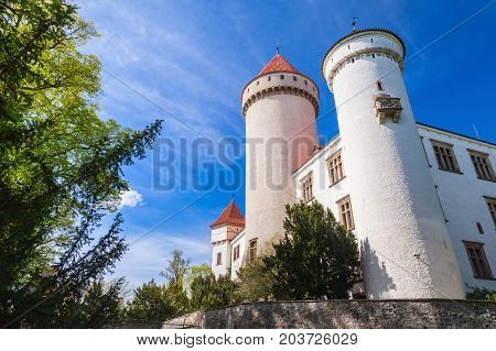 Konopiste Castlein Summer Day, Czech Republic