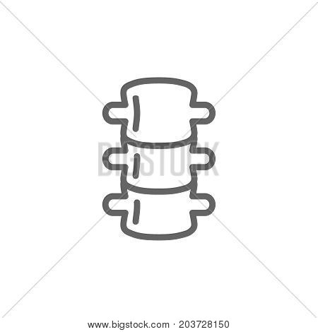 Simple backbone line icon. Symbol and sign vector illustration design. Editable Stroke. Isolated on white background