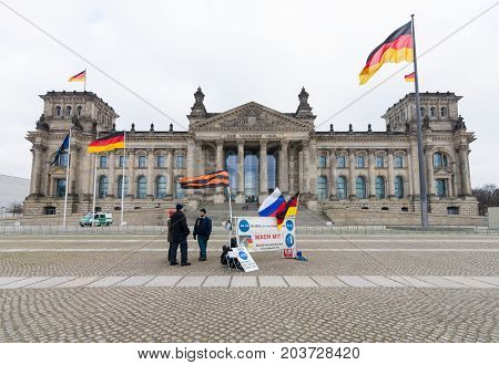 BERLIN - JANUARY 24 2015: Under the slogan