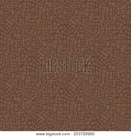 Seamless Leather Texture. Background for banner and site. Vector illustration