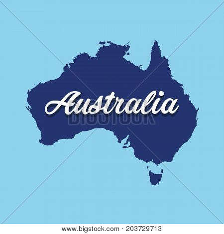 Australia map with flag. Australia day. Vector stock.