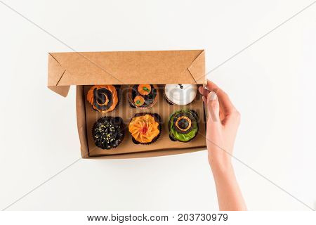 Halloween Cupcakes In Box