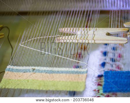 Small loom for making handmade craft work