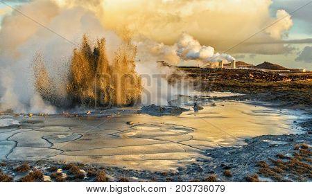 Mud Geysir