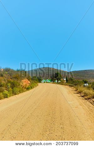 The Dusty Road To The Town Of Calitzdorp