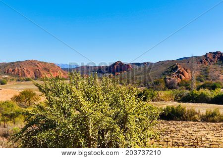 The View Of The Red Mountains In Calitzdorp