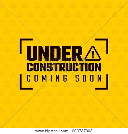 Under construction design, website development concept, vector illustration