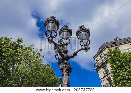 Street Lights By Hotel De Ville (city Hall) In Paris