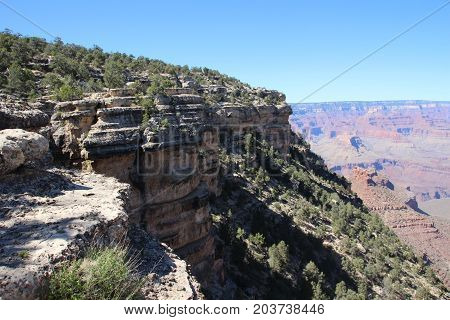 Spectacular view of The Grand Canyon during the summer