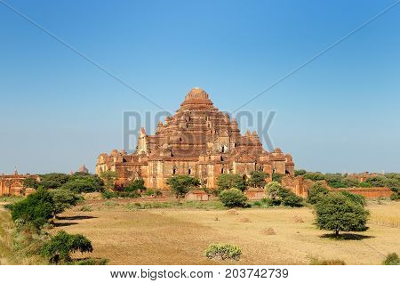 Bagan Dhammayangyi Pahto - visible from all parts of Bagan this massive walled 12th-century temple Myanmar (Burma)