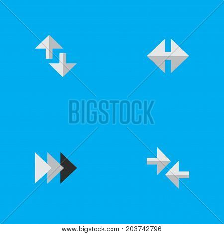 Elements Cursor, Onward, Export And Other Synonyms Forward, Import And Onward.  Vector Illustration Set Of Simple Arrows Icons.