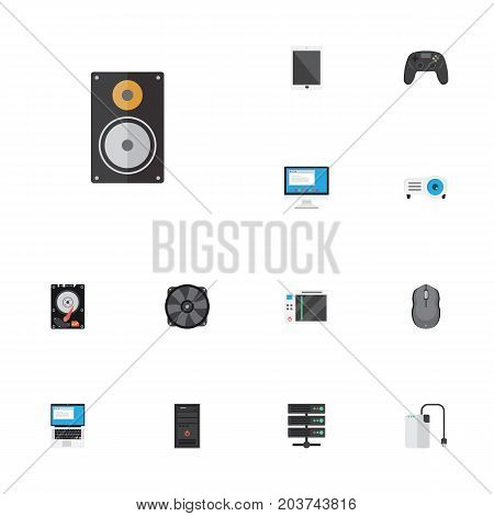 Flat Icons Controller, Cooler, Palmtop And Other Vector Elements