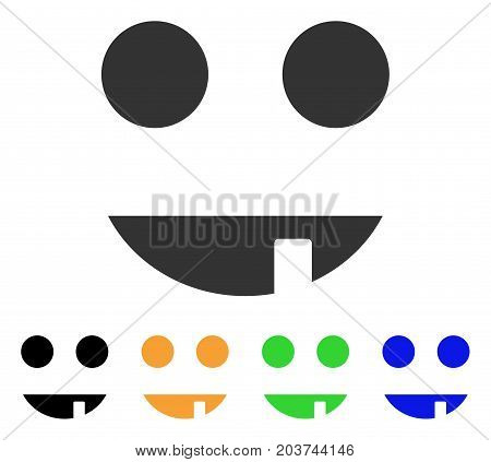 Witch Smile icon. Vector illustration style is a flat iconic witch smile symbol with black, gray, green, blue, yellow color variants. Designed for web and software interfaces.