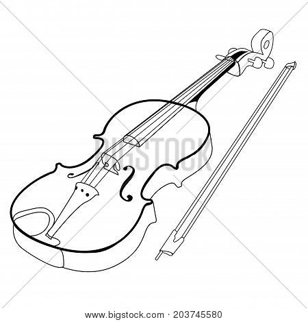 Isolated Violin Outline