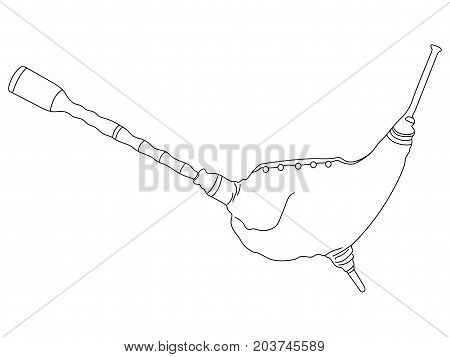 Isolated Bagpipes Outline