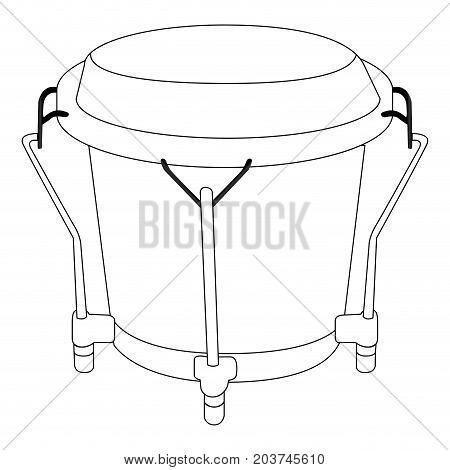 Isolated Bongo Drum Outline