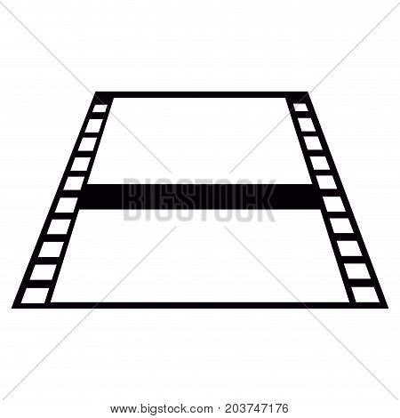 Isolated Filmstrip Silhouette