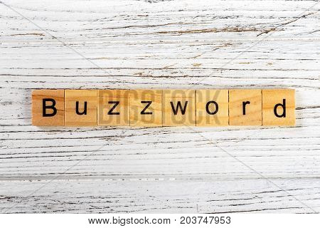 BUZZWORD word made with wooden blocks concept