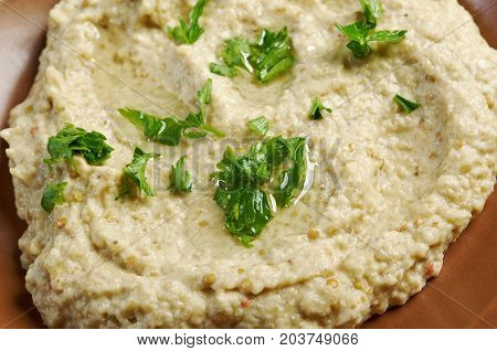 Homemade  Baba Ghanoush