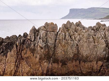 Cliffs in Ballycastle, County Antrim, Northern Ireland