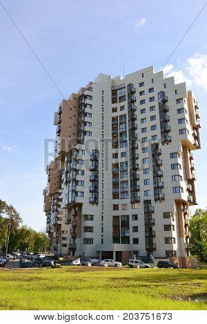 Khimki, Russia - May 30.2017 A residential complex Levoberezhnaya Dubrava