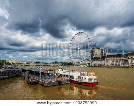 London Eye In London (hdr)