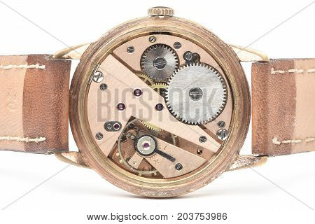 gelden automatic vintage watch with white backround