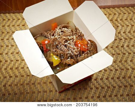 Take-out Food - Noodles With Pork