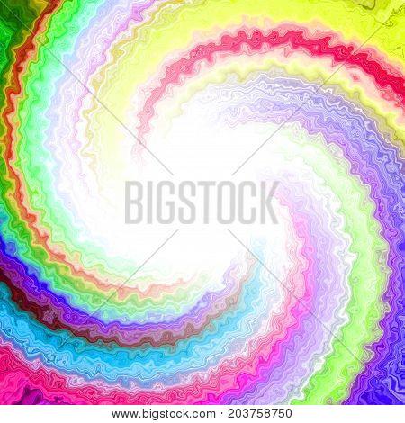 Creepy beautiful twirl colorful rays mixing design
