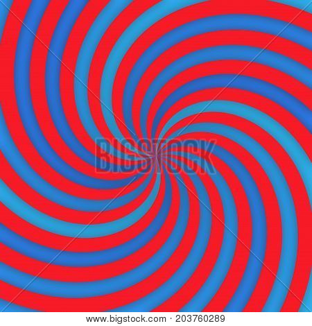Red and blue grunge grundy converging curvy lines illustration