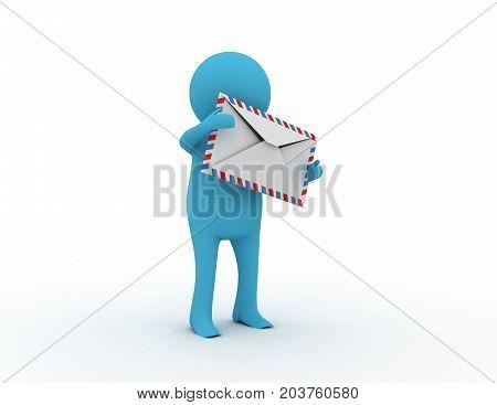 3d email concept  . 3d rendered illustration