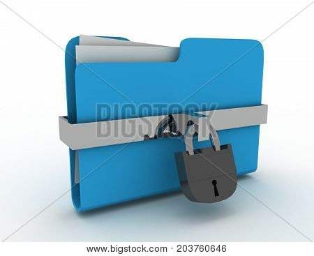3d infomation protection concept  . 3d rendered illustration