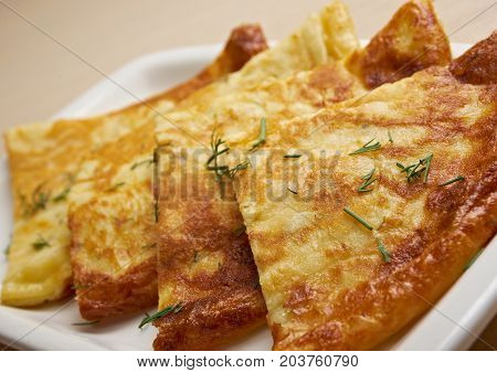 Cheese pie.Burek with cheese  , close up meal
