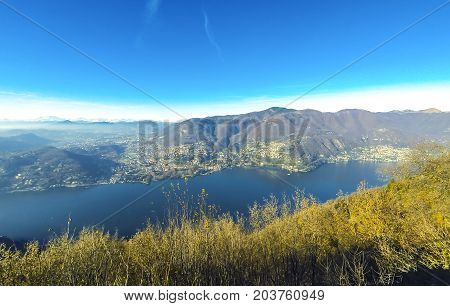 Picturesque Panorama Of Lake Como, Lombardy, Italy