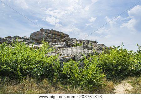 Stone Tomb In Ukraine In Zaporozhye