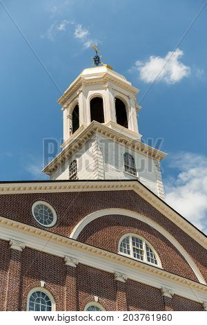 Faneuil Hall In Boston On Freedom Trail