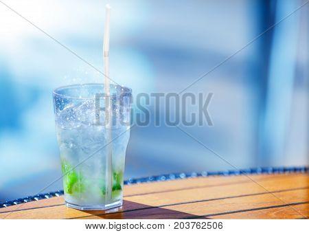 a Caipirinha chilled cocktail in the sunlighta