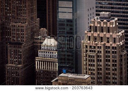 Aerial View Of Manhattan Roofs