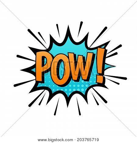 POW! Comic cartoon speech bubble vector with text