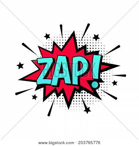 ZAP! Comic speech bubble vector with text