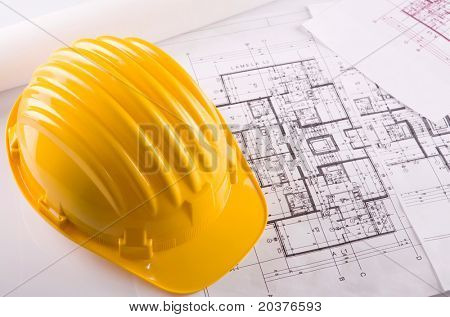 construction blueprints of real estate