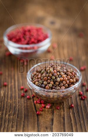 Portion Of Preserved Pink Peppercorns
