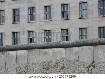 Berlino Wall Dividing The City Into Two Parts During The Cold Wa